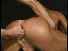 Lusty twink gets fingering in firm anus