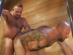 Old furry man-lover fucks stiff males anal opening