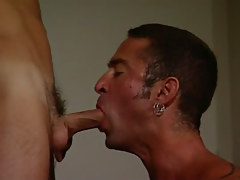 Mature faggot throats men appetizing cock