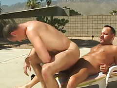 Lusty grown fellow rides rod of bear man-lover outdoor