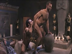 Hairy gay licked by muscle Arabian companion in pyramid