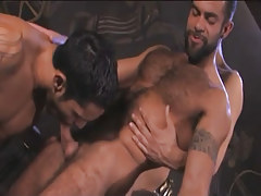 Hairy Arabian homosexuals jaw knobs in pyramid