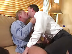 Horny mellow twinks play with tongue and make blowjob