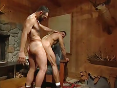 Hairy gay dudes hard fuck in doggy style