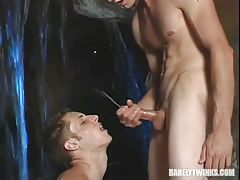 Innocent chap obtains sticky facial after intense anal