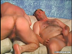 Hairy twinks jerk off and amplify raw buttocks