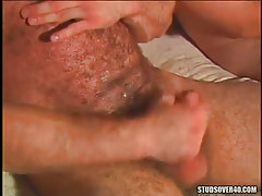 Mature unshaved gay cums