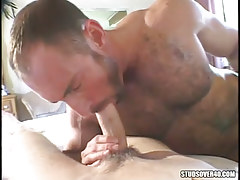 Mature furry man-lover swallowing beautiful lad