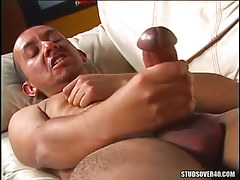 Gay with major penis masturbates