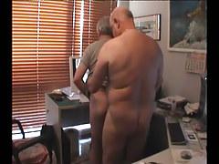 Chubby gay seduces old friend
