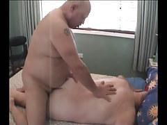 Chubby ready homosexual smokin' unyielding butt behind