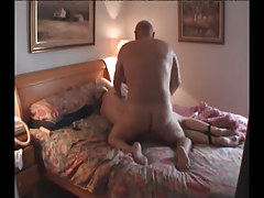 Fat placid gays fuck in bed