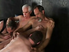 Lusty daddies sucked by chaps