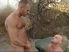 Depraved man-lover pissing on boyfriend outdoor