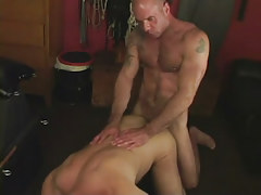 Hairy dilf bonks mature boyfriend in doggy style