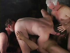 Two old man-lovers have fun with youthful men