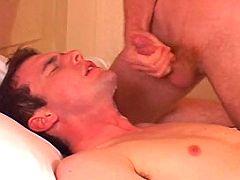 Handsome man receives good ass nailing and clammy cum