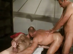 Bear adult homosexual guys put on dilf