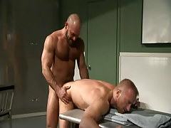 Hairy fellow humps doctor in doggy style