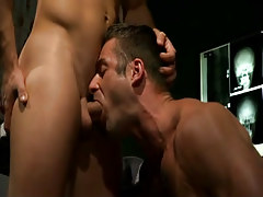 Mature doctor deep throats hard ramrod