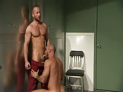 Hairy gay guy man sucks bear doctor