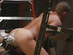 Lusty gay gains handballing in unyielding butthole
